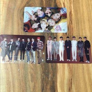 3 BTS Bangtan Boys Transparent Photocards